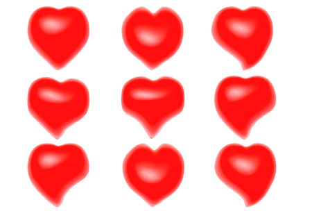 Red heart on white background (isolated)