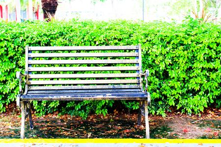 metal garden chair decorate Stock Photo
