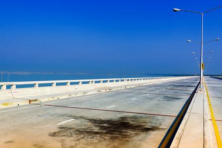 new travel place concrete road in Chonburi Thailand