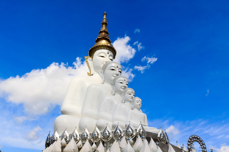 Place of worship of Buddhists The temple is a Buddhist Wat Pra That Pha Son Keaw buddism temple in Petchaboon, Thailand Stock Photo