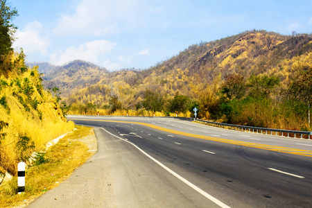 mountin: The empty road in the mountains Stock Photo