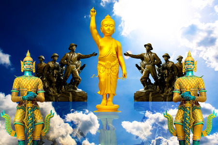Statue symbol religion asia background