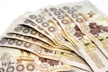 Thousand Thai banknote money background Archivio Fotografico - 110441502