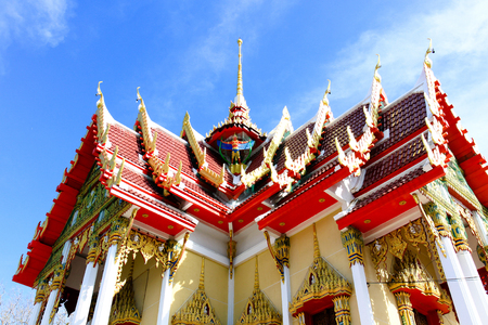 Beautiful Wat Thai,Thai temple design architecture building