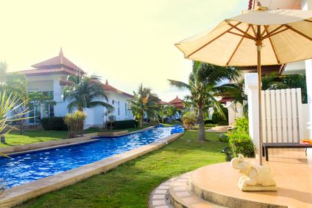 modern Swimming pool relaxing time