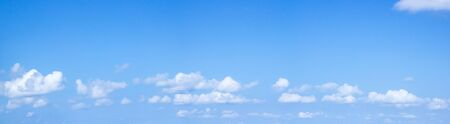 Blue sky in white cloud clear view for background and texture and panorama concept photo