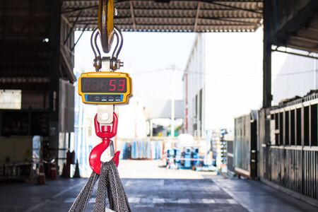 Industrial digital scales use weight check in factory and overhead crane