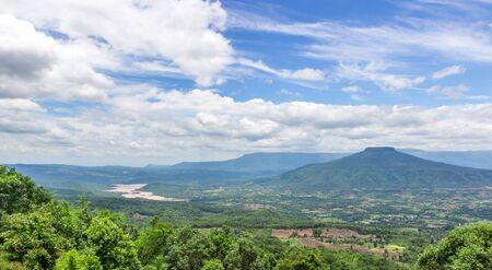 Beautiful mountain views ,mount Fuji in Thailand landmark beautiful place for tourists Phu Pa Po, Loei Province Standard-Bild