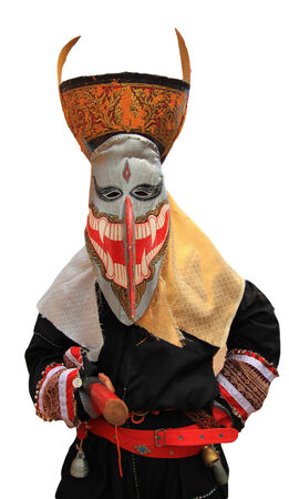 interpretations: phi Ta Khon colorful of the mask Stock Photo