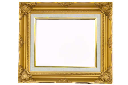 old picture: best old picture frame on white background.