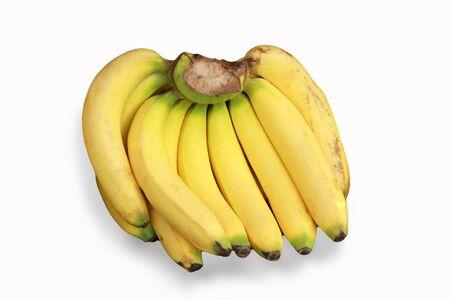 bad banana: old banana fruit isolated on the white background