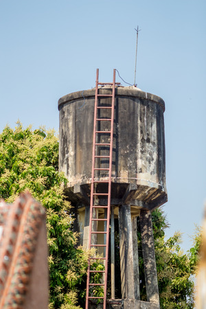 concerted: Village water tank Stock Photo