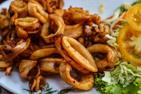 Delicious fried squid dish from Thailand  photo