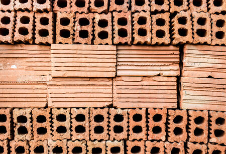 constrution: Bricks for constrution in Thailand Stock Photo