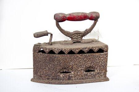 an antique: antique iron