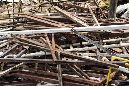 scrap iron: iron scrap for recycle Stock Photo