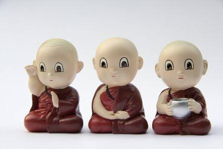 moine: little monk statue, Thailand