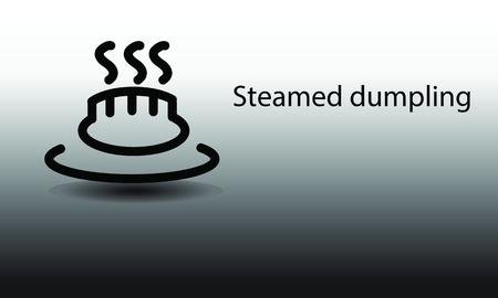 dim: Steamed dumpling  Illustration