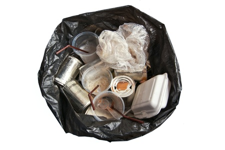 Garbage bags Standard-Bild