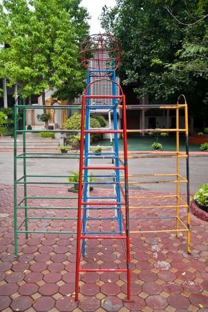 kinder garden: playground for children Stock Photo
