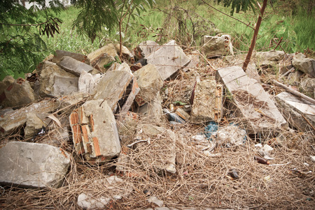 demolished house: material from demolished house