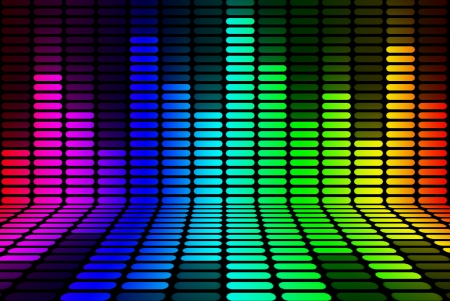 audio wave: Equalizer rainbow Signal