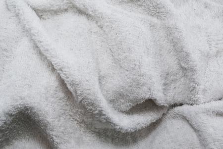 draped: White towel