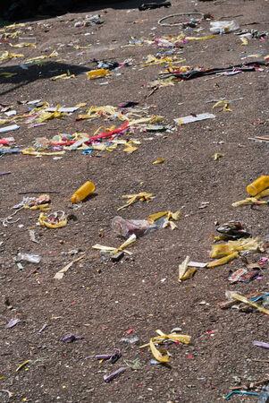 Garbage on the street
