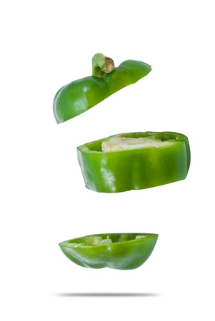 Bell pepper slices photo