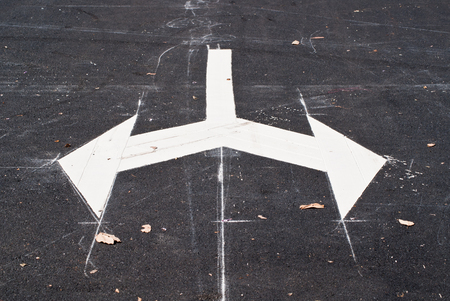bidirectional: Arrows on the road junction
