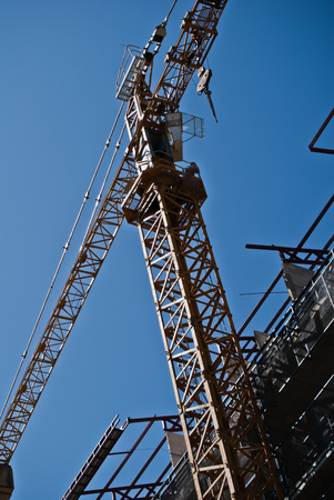 commercial activity: Crane lifting