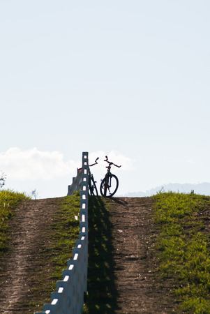 Bike on the hill photo