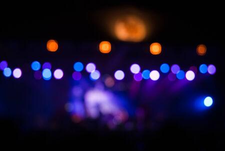 disco backdrop: Concert lights bokeh Stock Photo