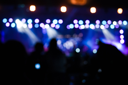 Concert lights bokeh Stock Photo