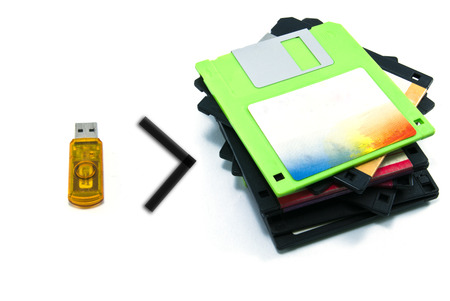 handy: Handy drives with the diskettes