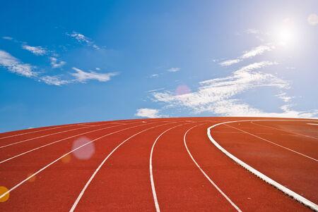 Running track bright day