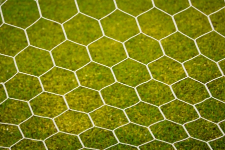 grass field: soccer nets Stock Photo