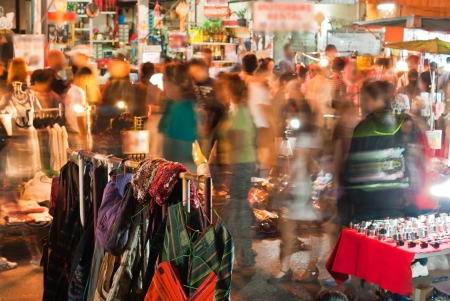 Night Market Stock Photo