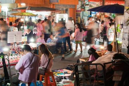 night market: Night Market Stock Photo