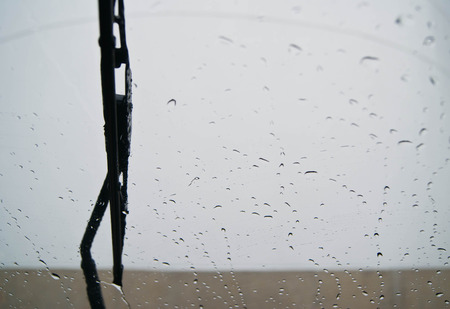 Windscherm regen Stockfoto