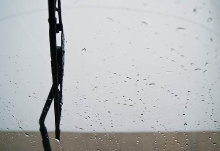 Windshield rain Stock Photo