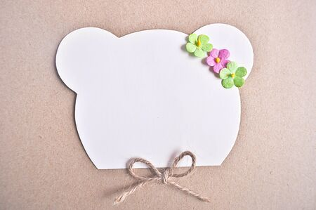 notepaper: Notepaper with Bear cute