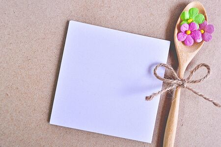 notepaper: Notepaper with flower