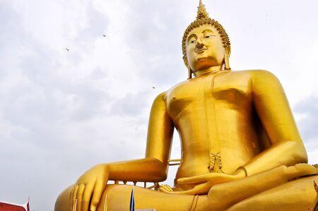 angthong: Big buddha statue  at Wat Muang, Angthong, Thailand.