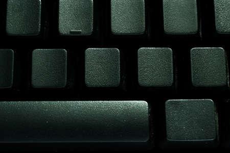 typer: Black Blank Keyboard Stock Photo