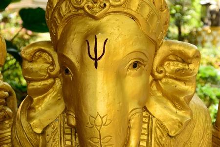 Golden Ganesh Statue photo