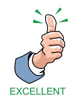 Thumbs up - Excellent Vectores