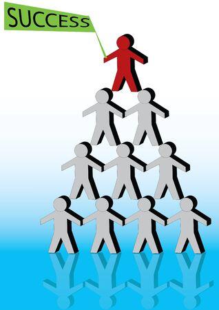 Pyramid Men Success Vector