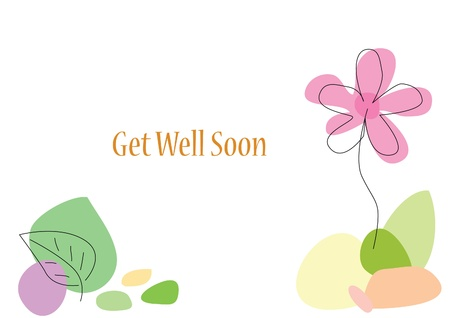 Flower Card with Space Vectores