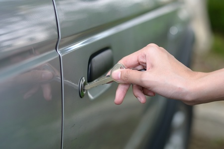 locking up: Inserting Car Key